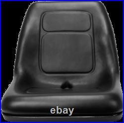 High Back Lawn Mower Seat Black Gravely, Husqvarna, Hustler