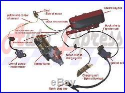 Honda GX390 13 hp ELECTRIC START KIT FLYWHEEL STARTER MOTOR KEY BOX NEW 2013