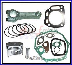 Honda GXV390 13hp ENGINE OVERHAUL KIT PISTON RINGS CLIPS CON ROD FULL GASKET SET