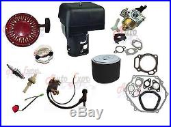Honda Gx390 Carburetor Recoil Pull Start Ignition Coil Gasket Air Filter Spark