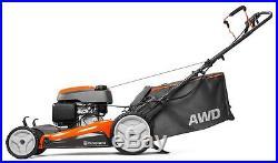 Husqvarna 190cc 22 Self-Propelled AWD 3-In-1 Gas Lawn Mower, Orange HU800AWD