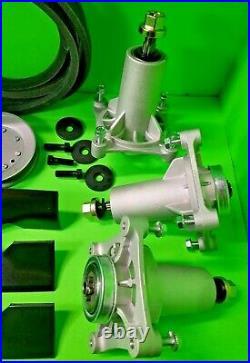 Husqvarna YTH24K48 48 Lawn Mower Deck Rebuild Kit Spindles Blades Belt Pulleys