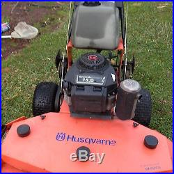 Husqvarna commercial walk behind mower 1 owner well maintained used 15hp/48deck