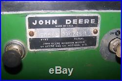 JOHN DEERE 140 H3 LAWN & GARDEN TRACTOR With JOHNSON MODEL 12 LOADER