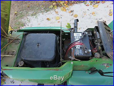 JOHN DEERE 318 GARDEN TRACTOR WITH PLOW AND MOWER DECK