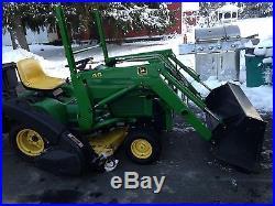 JOHN DEERE 40 LOADER 425 445 455 Garden Tractor