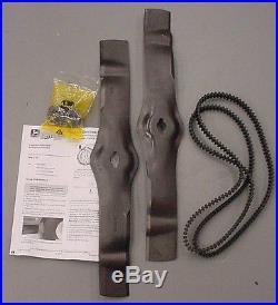 JOHN DEERE 42 Freedom Deck Blade and Belt Kit AM130172 M127926 LT155 LT166