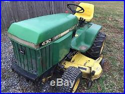 Low Cost Lawnmowers Blog Archive John Deere 430 Diesel Garden Tractor 60 Deck 1427 Hrs