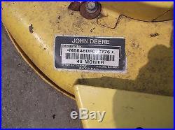 JOHN DEERE L345 48 RIDING MOWER MOWING DECK