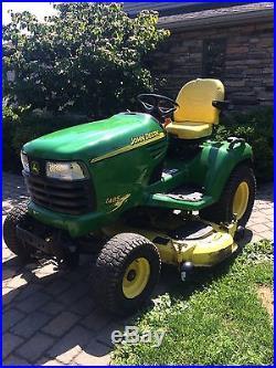 JOHN DEERE X485 x-series garden tractor with 54 deck