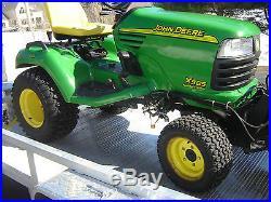 JOHN DEERE X585 130 HRS MOWER, SNOW BLOWER, PLOW 4X4