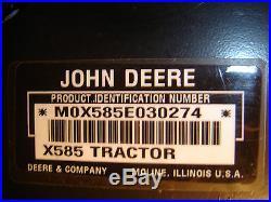 JOHN DEERE X585 4X4 SPECIAL EDITION