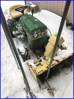John Deere 112L Garden Tractor With snowblower No Deck 32 Inch Snow Thrower