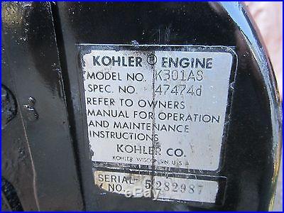 John Deere 112 120 140- Kohler 12hp/K301AS engine