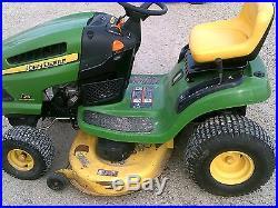 John Deere 125 automatic Riding mower JD tractor Foot Hydrostat 20 hp 42cut