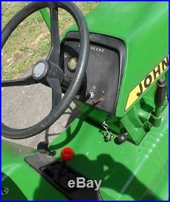 John Deere 210 Garden Tractor 38 Riding Mower w Plow Parts or Repair
