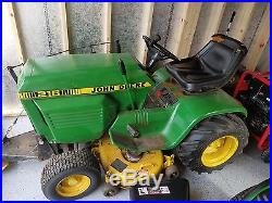 John Deere 216 Garden Tractor riding lawn mower 212 214 218 316 GT
