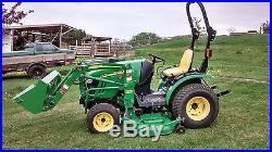 John Deere 2320 23hp. Diesel Tractor, 4x4, Hydro, JD 200 cx Loader 62 mower