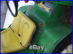 John Deere 318 with Snow Blower and Cab