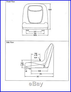 John Deere 325,335,345 Garden Tractors Above #70,001 With Pivot Style Seat #aq