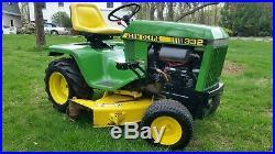 John Deere 332 Diesel Garden Tractor
