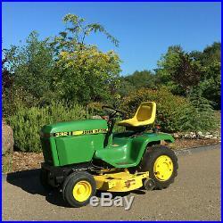 John Deere 332 Diesel Garden Tractor Mower Hydraulics Power Steering! Garaged
