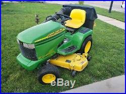 John Deere 345 Lawn Garden Tractor with Rebuilt Powerflo Bagger 54 inch Deck