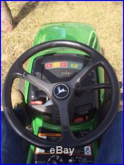 John Deere 345 Lawn and Garden Tractor 48 in Deck Mower Power Steering Nice
