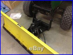 John Deere 400 Tractor, 60 Mower Deck, 54 Power angle Snow Plow. 850 Hours