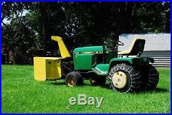 John Deere 420 Garden Tractor/2 Stage Snowblower/Deck New 24.5 Honda Motor