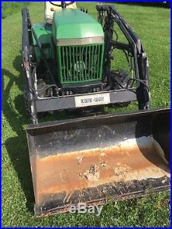 John Deere 420 Lawn Mower Kwikway Loader Attatchment