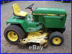 John Deere 420 Riding Mower Garden Tractor 60 Deck Only 150 Hrs New Engine