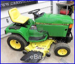 John Deere 425 Riding Lawn & Garden Tractor / Mower 20HP Kawasaki 54 Deck