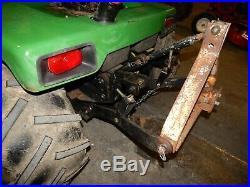 John Deere 430 Diesel Garden Tractor, 60 Deck, 3-Point Hitch, Brinly Hitch