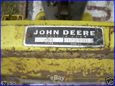 John Deere 54 Hydraulic lift Snow/Dirt Blade/Plow 140 300 316 317 318 322 332