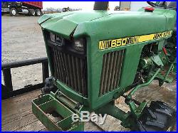 John Deere 650 MFWD Tractor with 60 finishing mower 261