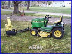 John Deere Gt Garden Tractor With Deck And Snowblower Wvb