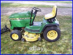 John Deere GT275 garden tractor with deck and 42 snowblower