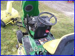 John Deere Gt Garden Tractor With Deck And Snowblower Lp