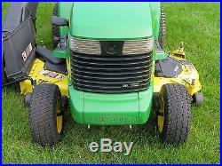 John Deere GX345 Lawn Tractor 20 HP 14 Bushel Bagger 408 Hours