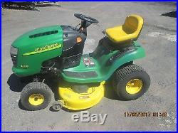 John Deere L100 Lawn Tractor 17hp Briggs Stratton Intek 42 Mower 5 Speed
