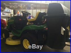 John Deere L110 Lawn Mower with bagger
