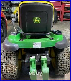 John Deere LA130 Lawn Tractor/Mower with Plow, Chains, Weights
