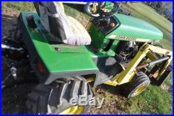 John Deere Model 430 Lawn And Garden Tractor. With johnson Loader