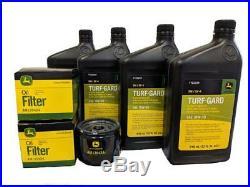 John Deere Original Equipment Double Oil Change Kit (4) TY22029 + (2) AM125424