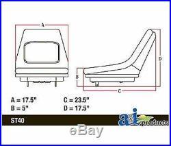 John Deere Seat High Back Ltr155 Ltr166 Ltr180 Lt133 Lt155 Lt166 415 425 445 455