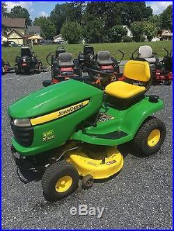 John Deere X300 Garden Tractor Riding Mower 42 Inch Deck 17hp Kawasaki Engine