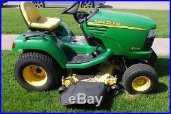 John Deere X475 riding lawn mower garden tractor, 48 deck, power steering, hyd