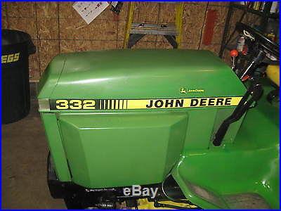 John deere 332 diesel tractor w/ Snow Blower
