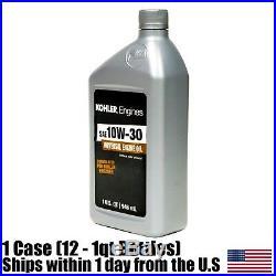 Kohler Command Engine 10W-30 Motor Oil Case Of (12) 25 357 06s 1 Quart Bottles